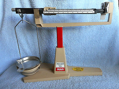 Vintage OHAUS Cent-O-Gram Balance Scale 311g Metal Used Near Zero