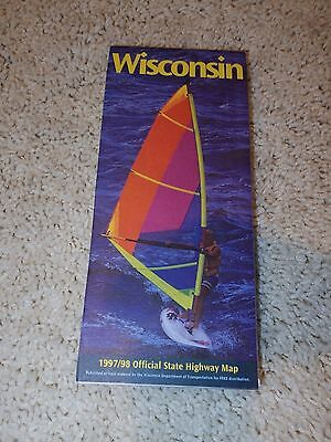 Wisconsin 1997/1998 Official State Highway Map - Wisconsin DOT - Used/VGC