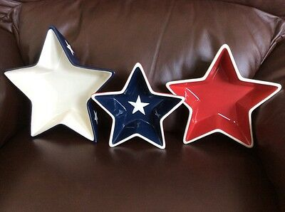 Red White Blue Star Serving Dishes