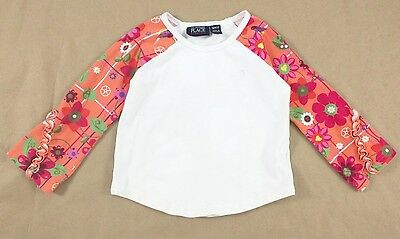 THE CHILDREN'S PLACE Girl's 3T Floral Ruffle Sleeve Top CUTE