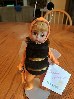 "Madame Alexander Bumble Bee 8"" Doll with doll stand"