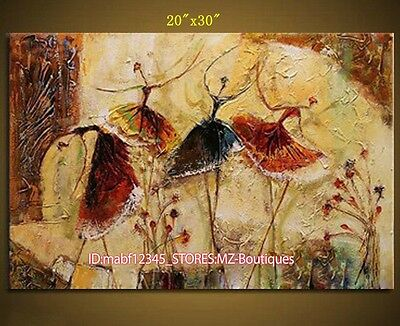 """YH384 20*30"""" Hand painted Oil Canvas Wall Art Home Decor Abstract dance NO Frame"""