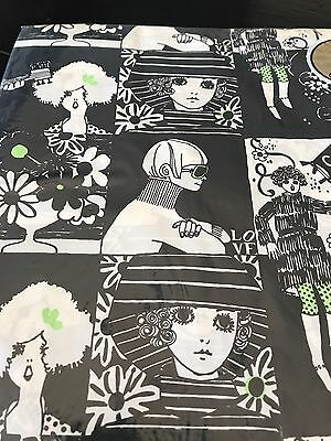 Vintage American Greetings Black & White Mod Gift Wrapping Paper