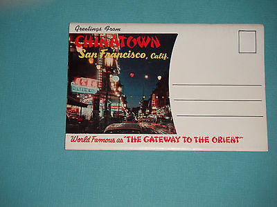 1960's Souvenir Booklet Chinatown San Francisco California Gateway To The Orient