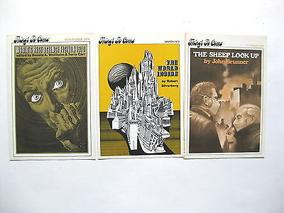 Things to Come   Science Fiction Book Club   lot of 3 from 1970 & 1972