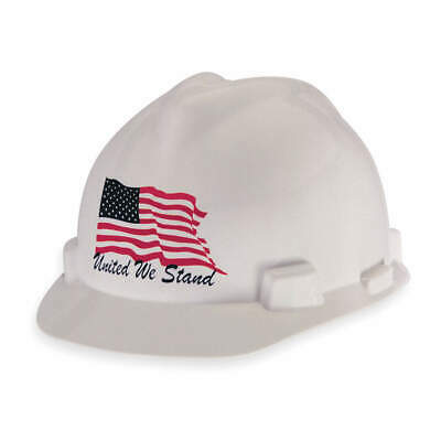 MSA Hard Hat,C, E,White,4 pt. Ratchet, 10034263, White