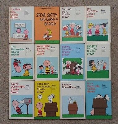 Lot of 12 Charlie Brown Vintage Hardcover Weekly Reader Book by Chares Schulz