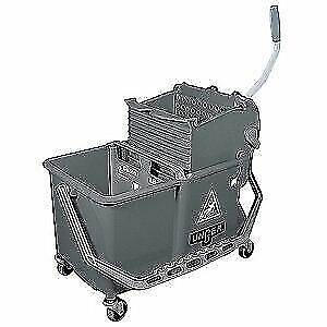 UNGER Mop Dual Bucket with Side Wringer,4 gal., COMSG, Gray