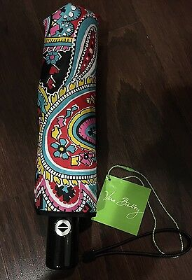 NEW Vera Bradley PARISIAN PAISLEY Umbrella - Auto Open & Close - Colorful - NWT