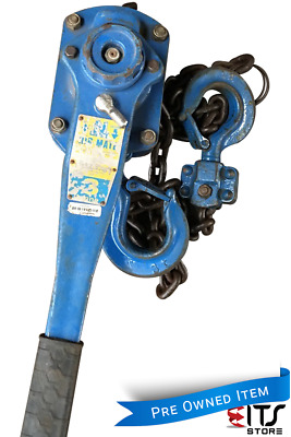 Chain Hoist 3 ton x 1.5 meter drop Block and Tackle Nobles Rigmate Shop Crane