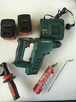 Hammer Drill 18 Volt Cordless Metabo BHA 18LT as New Never Used 2 x Battery