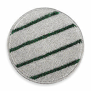 RUBBERMAID Carpet Bonnet,19 In,White w/Green Stripe, FGP26900WH00, White/Green