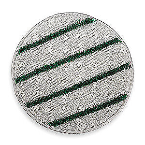 RUBBERMAID Carpet Bonnet,17 In,White w/Green Stripe, FGP26700WH00, White/Green
