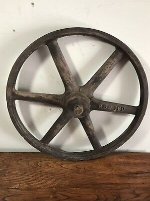 "Antique Industrial Wood Foundry Pattern Gear Mold 21"" -Very Old-"