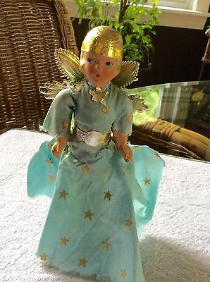 Vintage Composition Angel Christmas Tree Topper