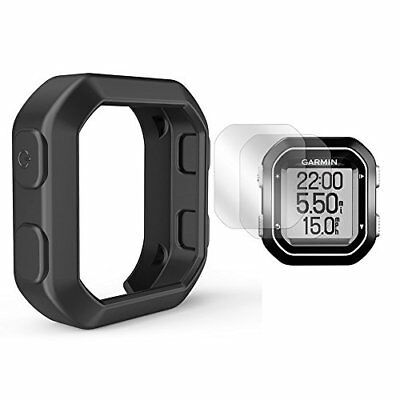 TUSITA Silicone Case + Screen Protector For Garmin Edge 20/25 GPS Bike Comput...