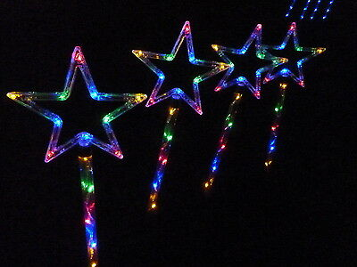 4 PCS 60 LED Mulit coloured Star Solar Christmas Garden Lights