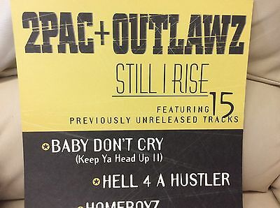 Lot of  2pac Outlawz /Nelly/ Dilated Peoples promo display 2 sided poster/slicks