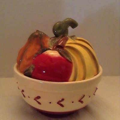 Covered Compote Fruit Topped Bowl