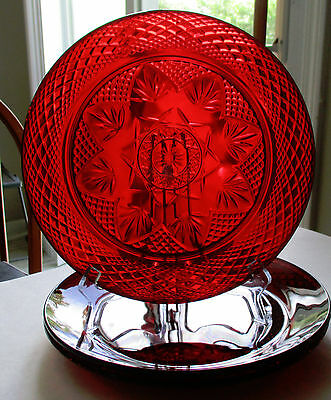 Lot of 3 Cristal d'Arques J G Durand Ruby Red 10 Inch Dinner Plates Luminarc