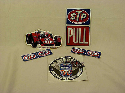 Vintage STP Sticker Set - Indy Racing and STP Motor Oil