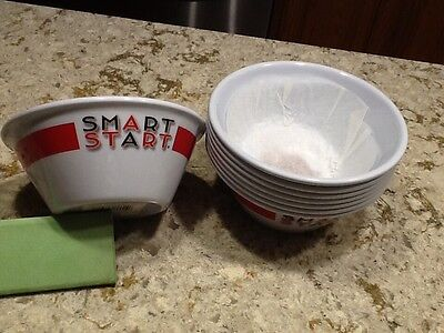 NEW Set Of 8 Kellogg's Smart Start One Bowl Stronger Cereal Bowls (Collectible)