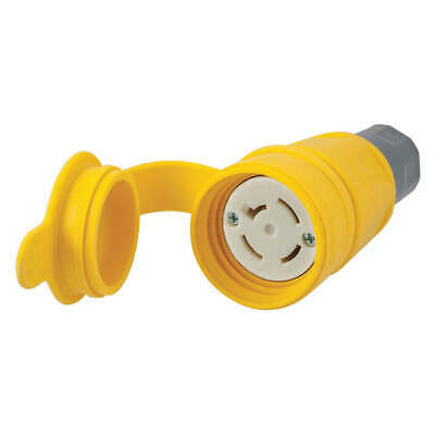 HUBBELL WIRING DEVICE-KELLEMS Connector,Non-NEMA,20A,120/208VAC,Yellow, HBL27W09