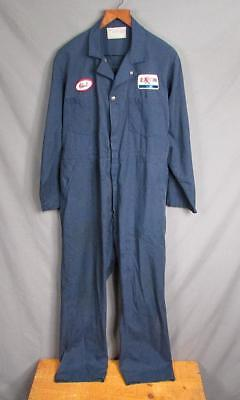 Vintage 1950s Exxon Gas Service Station Coveralls Work Universal 46 Union Made