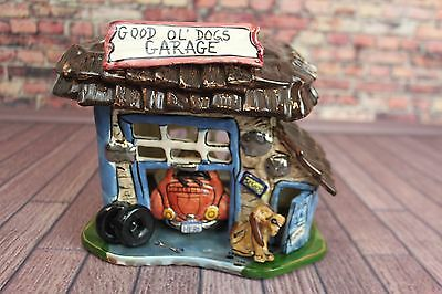 Blue Sky Clayworks Good Ol' DOGS Garage Heather Goldminc T-lite Candle Holder
