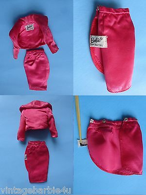 Vintage Barbie Doll #1611 PAK Satin N Rose Lot Bolero & Skirt PIT Tagged