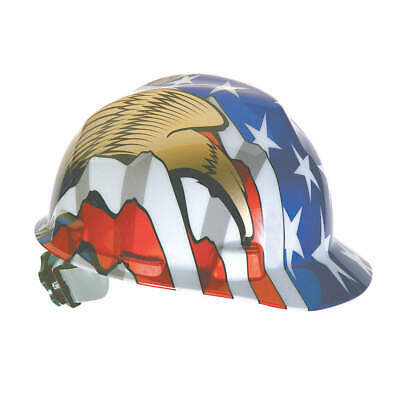 MSA Hard Hat,C, E,Red/White/Blue/Gold, 10052947, Red/White/Blue/Gold