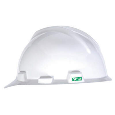 MSA Hard Hat,C, E,White,4 pt. Pinlock, 466354, White
