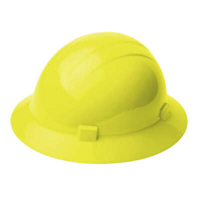 ERB SAFETY Hard Hat,4 pt. Ratchet,Hi-Vis Ylw, 19228, Hi-Visibility Yellow