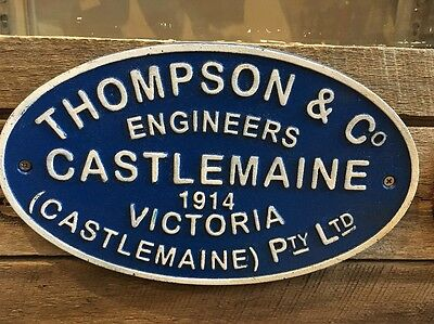 Castlemaine Repro Railway Plaque