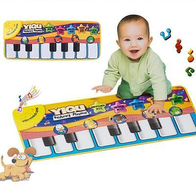 Musical Music Kids Piano Play Baby Mat Animal Educational Soft Kick Toy 2017 #NZ