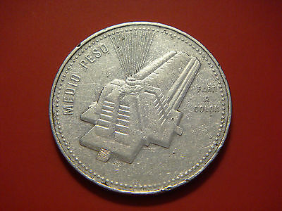 Dominican Republic 1/2 Peso, 1990, National Culture, Columbus Lighthouse