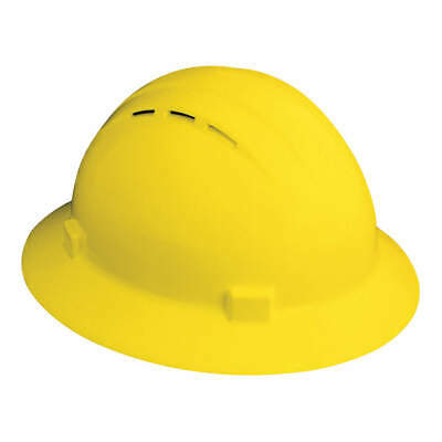 ERB SAFETY Hard Hat,4 pt. Ratchet,Ylw, 19432, Yellow