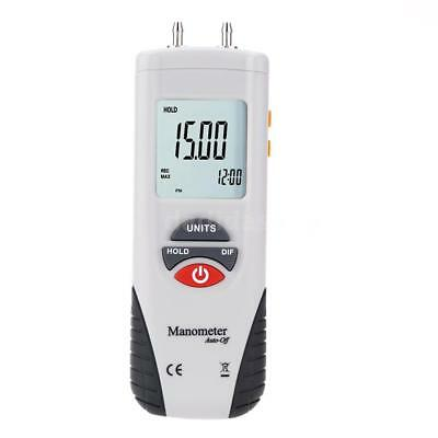 Differential Air Pressure Meter Digital Manometer Zero Adjustment Auto-off C5J3