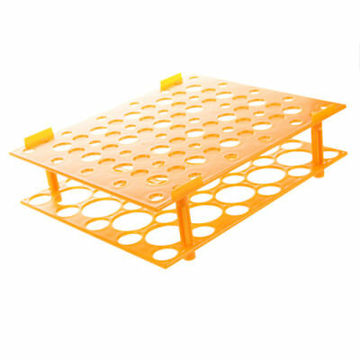 Laboratory Orange 50 Test Tubes 30mm 15mm Tubing Holder Stand Rack O8V2