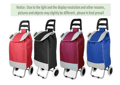 Shopping Cart Carts Trolley Bag Foldable Bags Luggage Wheels Folding Basket