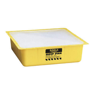 EAGLE Polyethylene Drip Pan,3 In. H,10-1/2 In. L,PK12, 1670, Yellow