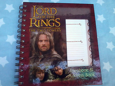 THE LORD OF THE RINGS TELEPHONE / ADDRESS BOOK hardcover spiral bound