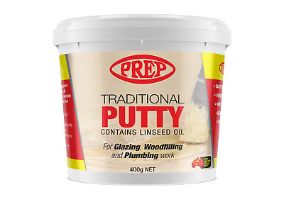 Prep traditional Linseed Oil Putty for glazing  & woodfilling  Plain colour