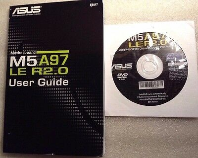 Discs & Manual For Asus M5A97 Le R2.0  Motherboard, 7Jl20