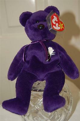 Princess Diana Beanie Baby Bear 2nd Ed. 1997 - MINT Condition - With Case