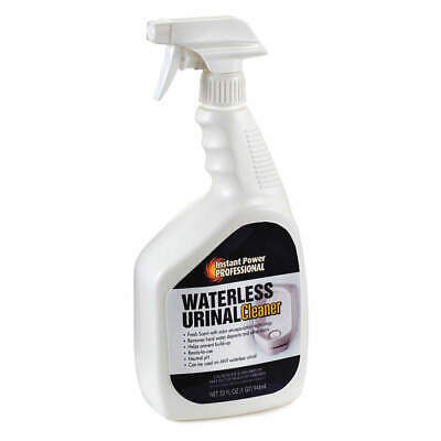 INSTANT POWER Waterless Urinal Cleaner,Clear,32 oz., 8205, Clear
