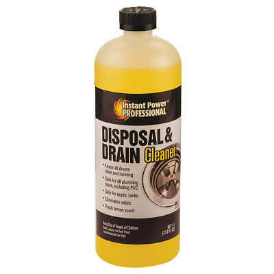 INSTANT POWER PROFESSIONAL Disposal and Drain Cleaner,1L,Bottle, 8815, Yellow