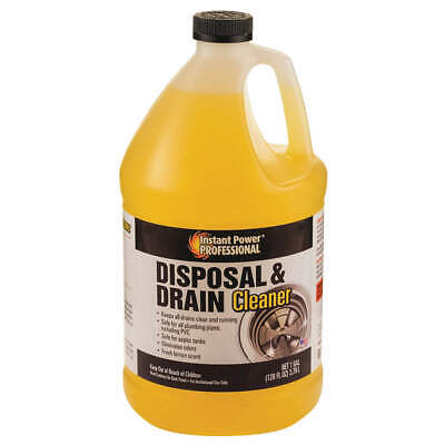 INSTANT POWER PROFESSIONA Disposal and Drain Cleaner,1 gal.,Bottle, 8816, Yellow