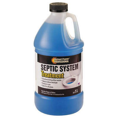 INSTANT POWER Septic System Treatment,2L,Odorless, 8866, Clear Blue