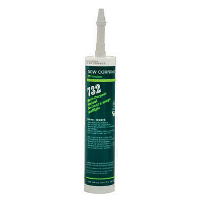 DOW CORNING Sealant,Silicone Base,White,Cartridge, 1892118, White